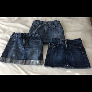 Bundle of Gymboree and Old Navy Jean skirts